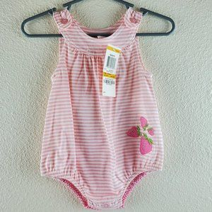 FIRST IMPRESSIONS Sunsuit 0-3m Pink Strawberry NWT